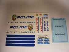 Henderson NV Police K-9 1/24 Water Slide Decals New Markings Fits Norscot Tahoe