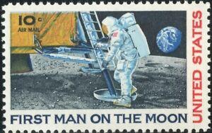 *(1) 10¢ Apollo 11 Airmail Stamp, U.S #C76, MNH, OG, Circa 1969 + Bonus*