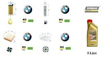 Kit Filtri Tagliando BMW 3 F30 F31 316d 320d + 5 Litri Olio Castrol 5W30