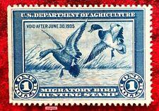 Duck Stamp 1934 SC#RW1 $1 Mallards Alighting Mint/ No Gum CV:$175