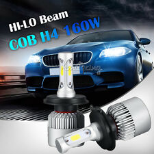 2pcs H4/HB2/9003 160W COB Hi-Lo Beam LED Headlights Bulbs 6500K Kits HID Xenon