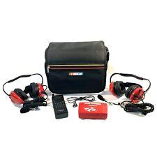 2 RadioShack Intercom Headphones 20-285, Racing Scanner Pro-89 20-514 NASCAR Bag