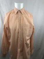 Tommy Bahama Men Casual Shirt Long Sleeve Button Up Down Plaid Large L 16 34-35