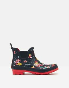 Joules Womens Printed Wellibobs - Navy Blossom Spot - Adult 3