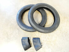 TWO New 4.00-19 Deestone Tri-Rib 3 Rib Front Tractor Tires WITH Tubes 8N 9N Ford