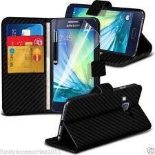 Fundas y carcasas color principal negro de fibra de carbono para teléfonos móviles y PDAs Samsung