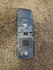 Rare! Motorola Razr V3 Dark Gray w/ Dragon Tattoo T-Mobile. Miami Ink Se!