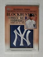 2012 Topps Update Series Blockbusters Hat Logo Patch #BP-25 Alex Rodriguez Card