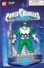 "Power Rangers Lost Galaxy 5"" Green Heroes Ranger Series 11 New Factory Sealed"