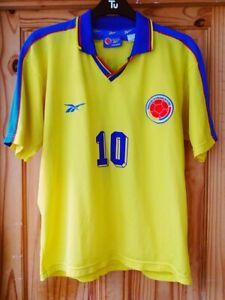 Colombia 1998 World Cup Reebok Vintage Football Shirt 10 Valderrama Columbia