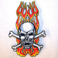 BROTHERHOOD SKULL PATCH P5820 embroidered skeleton biker helmet patches iron on