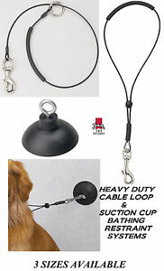 "HEAVY DUTY Dog Cat Grooming""HOLD EM""RESTRAINT SUCTION CUP,HOOK&LOOP Noose SYSTEM"