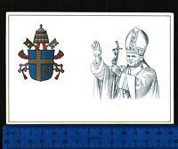 CART. POSTALE  CON BELLA VEDUTA DI  S.S. GIOVANNI PAOLO II E STEMMA PAPALE 24386