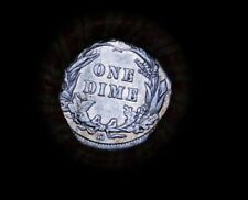 """Crimped Shotgun Roll w/ """"D"""" Minted Rev Barber / Seated Dime & 1865 Indian Head"""