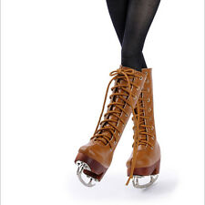 Dollmore 1/4 BJD MSD - Basic Skate Long Boots (Brown) shoes