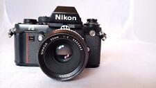 Nikon F3 film slr camera w/ Nikkor 50mm 1:2 lens.  #1M