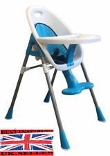 Blue Boys Quality Safety Comfy High Chair with Feeding tray, Cup Holder Footrest