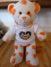 Build a Bear Teddy Bear Candy Corn plush toy with Bab shirt 16""