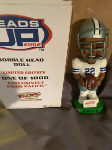 2002 EMMITT SMITH Dallas Cowboys Heads Up BOBBLEHEAD Limited /1000 MINT in BOX $