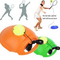 Single Tennis Trainer Training Practice Rebound Balls Back Base Tool w/ Ball