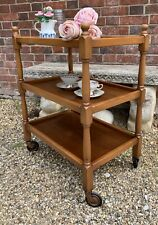 Traditional Vintage Three Tier Tea Trolley / Drinks Trolley