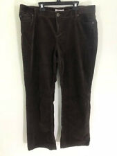 Coldwater Creek jeans womens 16P inseam 29 brown corduroy