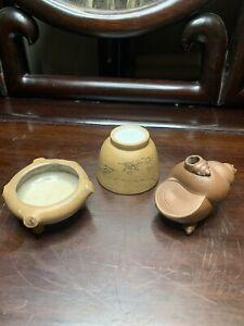 Antique Chinese Yixing Zisha Three Pot China Asian