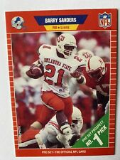 1989 Pro Set Football Barry Sanders Rookie Card #494 Detroit Lions *HOF