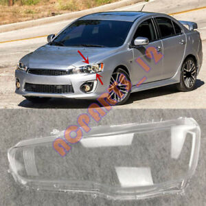 For Mitsubishi Lancer 2008-2017 Left Side Headlight  Clean Cover PC +Glue