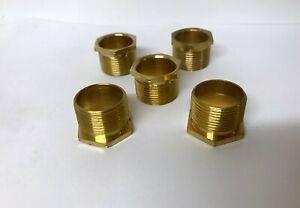 25mm Long Male Brass Bush Conduit (PACK OF 5) (U223)