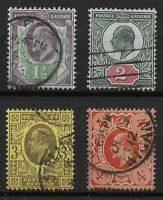 KEVII-1&1/2d.,2d.,3d.,4d. Very Fine Used Group.  3d.& 4d. Are P.15x14. Ref:07135