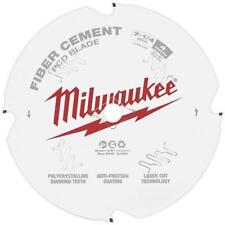 "3 Pk Milwaukee 5/8"" x 7-1/4"" Dia. 4-Tooth Fiber Cement PCD Circular Saw Blade"