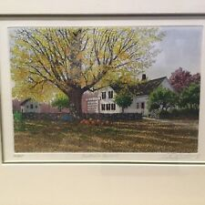 "Carol Cottette "" Autumn Harvest "" 40/450 Etching  Cap Cod "" Great Christmas Gift"