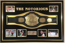 *** RARE CONOR MCGREGOR SIGNED BELT Autograph Display *** 2 WEIGHT CHAMPION