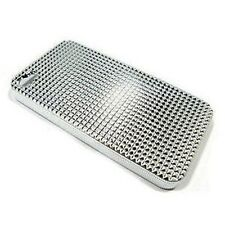Ultra ligero Duro Funda Piel Para Apple Iphone 4 4g 4s Plata Diamante Bling