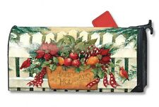 HAPPY HOLIDAYS Holiday Gate CHRISTMAS Magnetic Mailbox Cover Made in USA