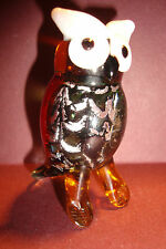 Genuine Handmade  Spun Glass ~Owl~Figure~Ornament~Bird~Boxed~uk seller