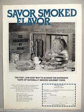 The Smokehouse by Mirro PRINT AD - 1979 ~~ smoked meat smoker