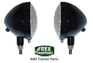 Headlight pair John Deere A B G L LA M MT 40 320 420 Tractor 6v Head lights