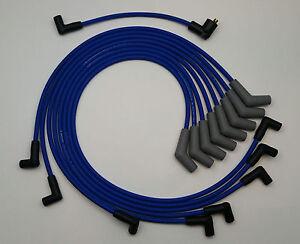 1977-1979 LINCOLN CONTINENTAL MARK V 400 HEI BLUE 8mm Spark Plug Wires made USA