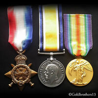 WW1 Medals Trio 1914 - 15 Star , British War & *NEW* Victory Medal British Repro