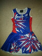 Red White Blue Netball Dress Bodysuit  - Blackchrome - Size Kids 10