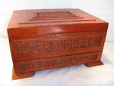 Vintage Tramp Art / Prison Art Box