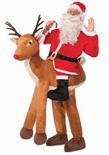 Santa Ride a Reindeer Adult Costume Standard Size NEW Christmas