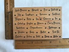 Great Impressions Flowers Rubber Stamp NEW