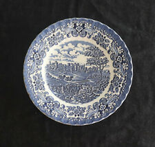 "Vintage English Plate - ""Olde Country Castles"" - Blue and White"