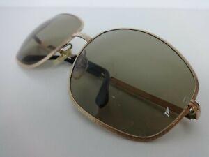 Vintage Safilo Sunglasses Alassio 70s Unisex Oversize Design Gold Embossed Frame
