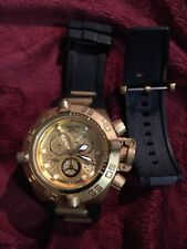 Invicta16144 Subaqua Noma IV Gold Plated Swiss Chronograph Men's Watch BROKE
