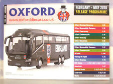Oxford Diecast 48 Páginas Bolsillo Catálogo Febrero A mayo 2018 Liberación
