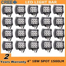 "20X 4""inch 18W Cree LED Work Light Bar Spot Beam Offroad 4WD UTE SUV Fog Driving"